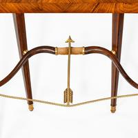 French demi-lune rosewood bow and arrow table by Georges-François Alix (8 of 11)