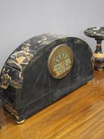 Art Deco Marble Clock Garniture (13 of 13)