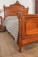 Impressive and beautiful large king size carved walnut bed & matching bedsides (4 of 13)
