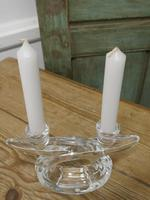 Pair of Art Deco Twin Crystal Candlesticks (2 of 5)