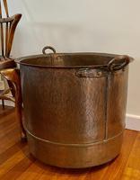 Large Sturdy Solid Copper Bin c.1900 (2 of 11)