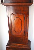 Antique Longcase Clock Fine English Oak Striking Grandfather Clock Painted Dial (6 of 10)
