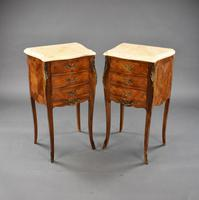 Pair of French Rosewood Bedsides