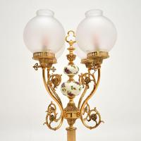 French Style Brass & Glass Table Lamp (5 of 10)