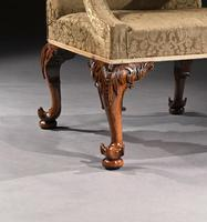 Mid 18th Century George II Walnut Library Open Armchair of Grande Scale (9 of 9)