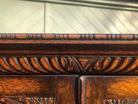 Antique Oak Barley Twist Cabinet on Stand (6 of 10)