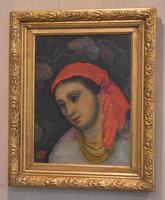 Oil Painting of a Lady with a Red Headscarf (2 of 8)