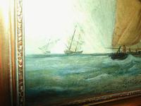 Oil on Canvas 'Storm off Whitby' by Fielding (5 of 6)