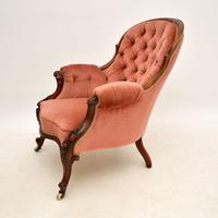 Antique Victorian Carved  Mahogany Armchair (3 of 11)