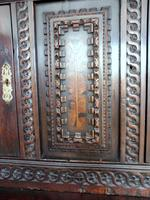 Country Oak Marquetry Inlaid Court Cupboard 1770 (5 of 10)