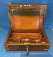 Victorian Brassbound Figured Walnut Writing Slope (12 of 18)