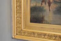 Large Oil Painting by William Perring Hollyer Titled 'Courtship' (7 of 10)