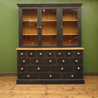 Black Painted Pine Apothecary Cabinet Style Dresser with Multi Drawer Base (12 of 18)