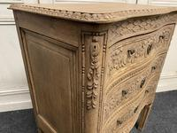 French Bleached Oak Chest of Drawers (6 of 12)