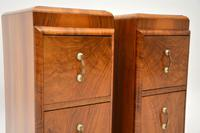 Pair of Art Deco Figured Walnut Bedside Chests (10 of 10)