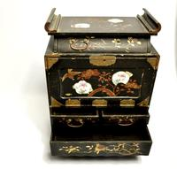 19th Century Japanese black lacquered Travelers Desk (7 of 7)