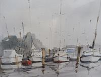 Watercolour The Moorings Listed Artist Diana Scott (10 of 10)