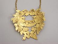 George III Silver Gilt Wreath Wine Label 'HOCK' by Digby Scott & Benjamin Smith - London 1806 (10 of 11)