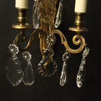 French Pair of Gilded Brass Wall Lights (8 of 10)