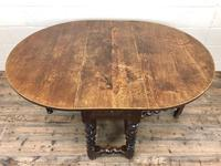 Antique 18th Century Welsh Oak Gateleg Table, Folding Table, Dining Table or Kitchen Table (9 of 12)