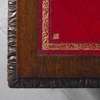 Antique Oak Flemish Writing Table (3 of 15)