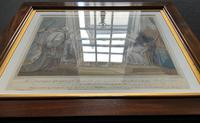 Superb C1803 Mahogany Framed Georgian Coloured Engraving Of The Dowager Queen (13 of 14)
