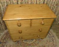 Petite Antique Chest - Stripped Pine Chest of Drawers (2 of 8)