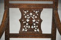 Anglo Indian Carved Padouk Chair (4 of 12)