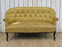 Antique French Button Back Sofa for Re-upholstery (2 of 8)