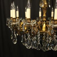 French 12 Light Gilded Bronze Antique Chandelier (3 of 10)