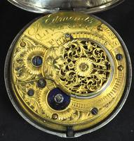 Antique Silver Pair Case Pocket Watch Fusee Verge Escapement Key Wind Enamel P Edmonds Liverpool (4 of 10)