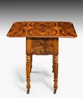 Early 19th Century Small Walnut Pembroke Work Table (2 of 5)