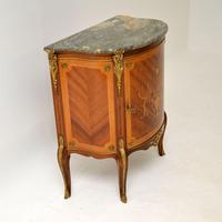 Antique French Inlaid  Marquetry Marble Top Cabinet (6 of 10)