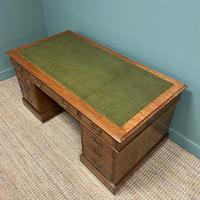 Superb Quality Large Edwardian Walnut Antique Office Desk (4 of 7)