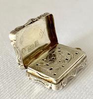 Small Sterling Silver Vinaigrette. Birmingham 1847 (4 of 7)