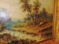 Large Victorian Oil Landscape by W.Wilson (3 of 5)