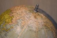 Globe on Oak Base Set with Compass (7 of 7)