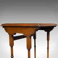 Antique Trio of Nest Tables, English, Walnut, Mahogany, Nesting, Side, Edwardian (11 of 12)