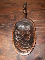 19th Century Norwegian Treen Carved Scoop Love Token