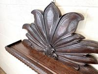 Victorian Carved Oak Wall Hanging Shelf (6 of 7)