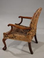Substantial Early 20th Century  Gainsborough Style Mahogany Framed Armchair (5 of 6)