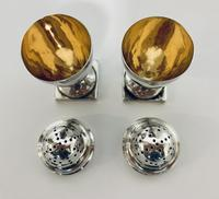 Pair of 18th Century Georgian Solid Sterling Silver Salt and Pepper Shakers Pepperettes (7 of 12)