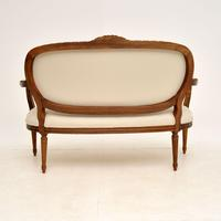 Antique French Carved Walnut Salon Sofa (12 of 12)