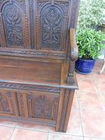 Country Oak Cottage Settle 1820 (4 of 10)