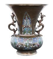 Chinese Bronze Champleve Vase