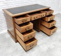 19th Century Oak Pedestal Desk (7 of 8)