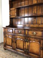 Large 20th Century Georgian Style Oak Dresser (4 of 23)