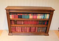 Substantial Oak Open Bookcase (6 of 9)