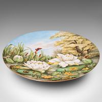 Antique Decorative Charger Plate, English, Ceramic, Dish, Art Nouveau, Victorian (2 of 12)