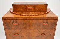 Art Deco Figured Walnut Chest of Drawers (11 of 12)